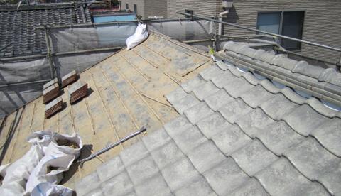 屋根・外壁リフォームの事例ビフォア画像
